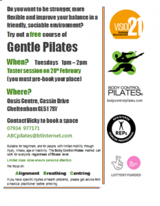 Free Gentle Pilates sessions (term time only)
