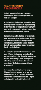 THe Greenhouse Effect – A warming World and it's a Climate Emergency