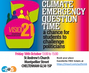 Climate Emergency Schools' Q&A session with local politicians